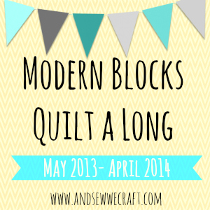 AndSewWeCraft.com Modern Blocks Quilt A Long